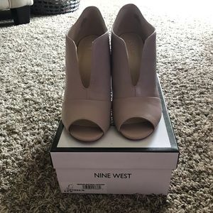 Nine West Artissa Ankle Open Toe Booties Sz 8.5